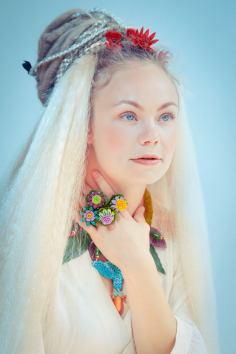 Jewelry: Sara Amrhein Photographer: Dorin Valisescu Model: Nikiita de Klein Hair: Anna Rose